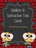 Double Digit Addition and Subtraction Task Cards (Bee Themed)