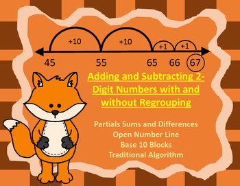 Double Digit Addition and Subtraction with and without Reg