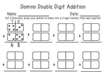 Double Digit Domino Math Center