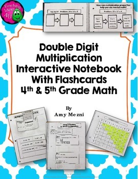 Double Digit Multiplication Interactive Notebook INB Unit