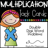 Multiplication Task Cards: Double Digit Number Word Problems