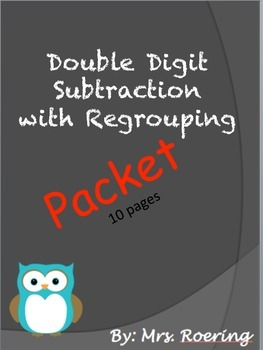 Double Digit Regrouping Packet