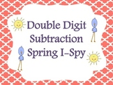 Double Digit Subtraction Ispy Spring Version