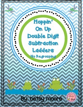 Double Digit Subtraction Without Regrouping Ladder Game- H