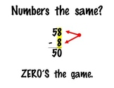 Double Digit Subtraction Mneumonic Wall Display