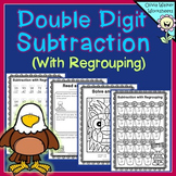 Double Digit Subtraction - With Regrouping - Two Digit Sub