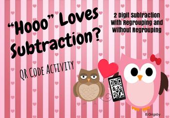 Double Digit Subtraction QR Code Activity