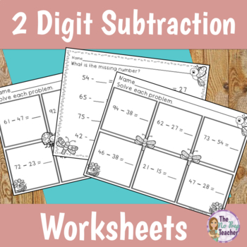 Double Digit Subtraction with Regrouping Differentiated Wo