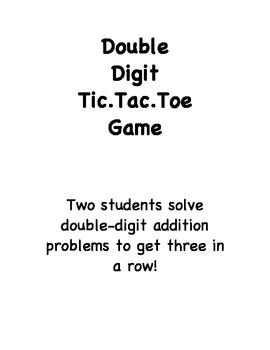 Double Digit Tic Tac Toe