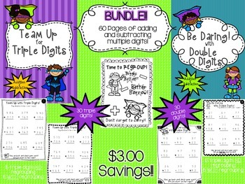 Double Digit and Triple Digit BUNDLE! +/- with and withOUT