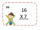 Double Digit by One Digit Multiplication Task Cards