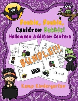 Double Double Cauldron Bubble Halloween Addition Centers Bundle