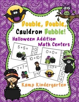 Double, Double, Cauldron Bubble!  Halloween Addition Math
