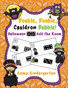 Double, Double, Cauldron Bubble!  Halloween Domino Add the
