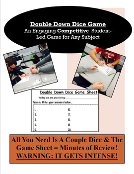Double Down Dice Game - Engaging & Competitive Activity fo