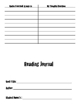 Double Entry Journal- Printable Journal