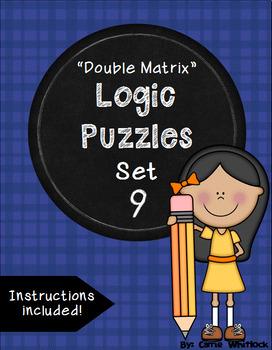 Double Matrix Logic Puzzles Set 9