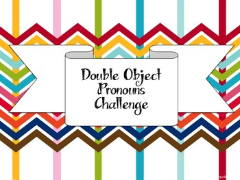 Double Object Pronoun Envelope Activity