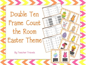 Double Ten Frame Count the Room Easter Theme