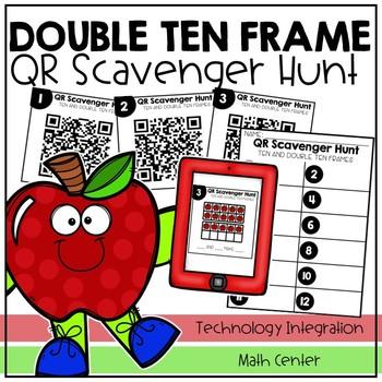 Double Ten Frame QR Code Scavenger Hunt