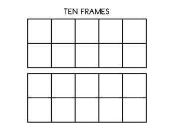 Double Ten Frame Template by Works of Heart | Teachers Pay Teachers