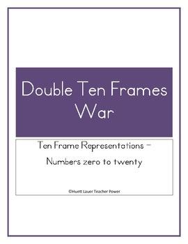 Double Ten Frame WAR Game