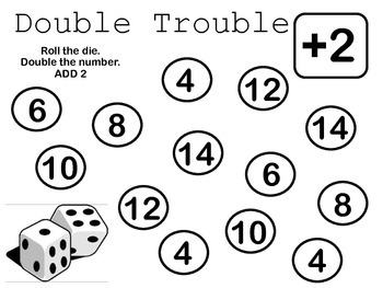 Double Trouble Plus More {extending doubles math tub or ma