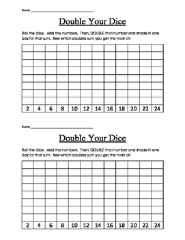 Double Your Dice math game