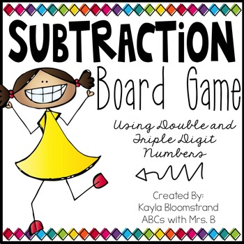 Subtraction Board Game: Double and Triple Digit Numbers