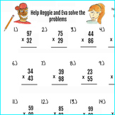 2pgs Double Digit Multiplication Worksheets and Answer key