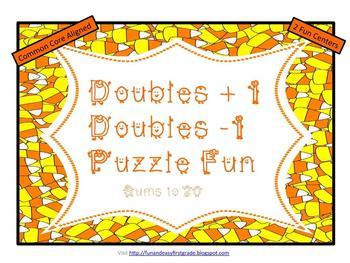 Doubles +1 Doubles -1 Puzzle Fun! (Common Core Aligned)