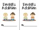 Doubles Addition Anchor Chart with Clip art and Printable book