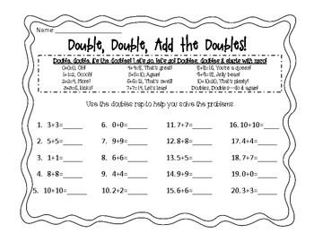 Doubles Addition Practice