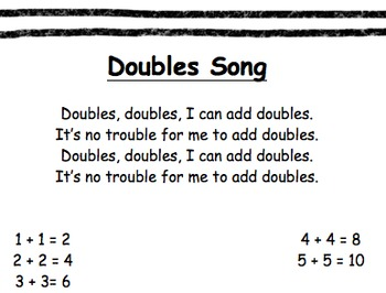 Doubles Addition Song