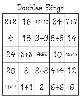 Doubles Bingo
