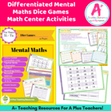 Mental Maths - Doubles - Dice Game - Differentiated & AC L