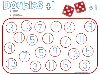 Doubles, Doubles +1 Doubles -1 Game Boards