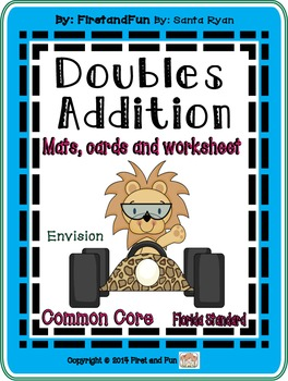 Doubles Addition Common Core MAFS  Mat  worksheets flashca