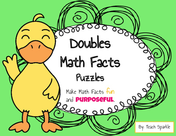Doubles Math Facts Puzzles