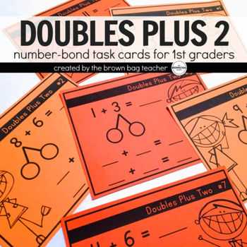 Doubles Plus 2, Number Bond Task Cards
