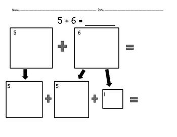 Doubles Plus One Graphic Organizer Set