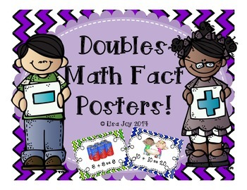 Doubles Posters!  Fun and Colorful Posters to Reinforce Do