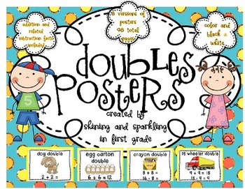 Doubles Posters for Addition AND Subtraction