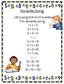 Doubles and Doubles +1 Songs for Math