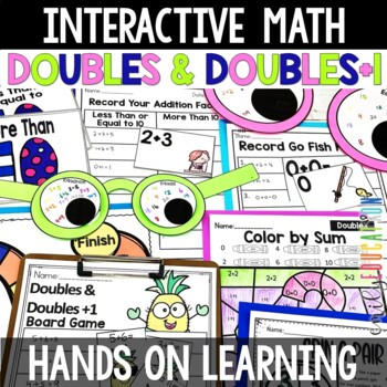 Doubles and Doubles Plus One Addition Activities and Centers