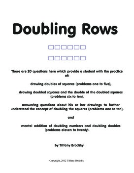 Doubling Rows: addition of doubles and doubling doubles; m