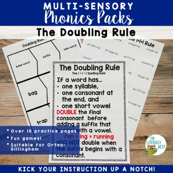 Doubling Rule Activities Multisensory Phonics Approach Ort