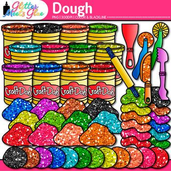 Playdough Clip Art {Glitter Craft-Dough for Mat Activities