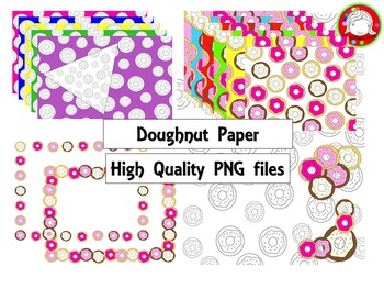 (Fresh Freebie) Doughnut Shop Digital Paper Pack (Personal