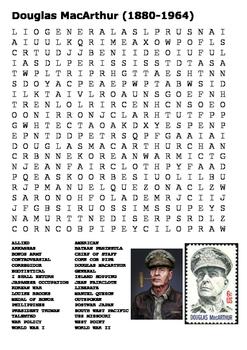Douglas MacArthur Word Search